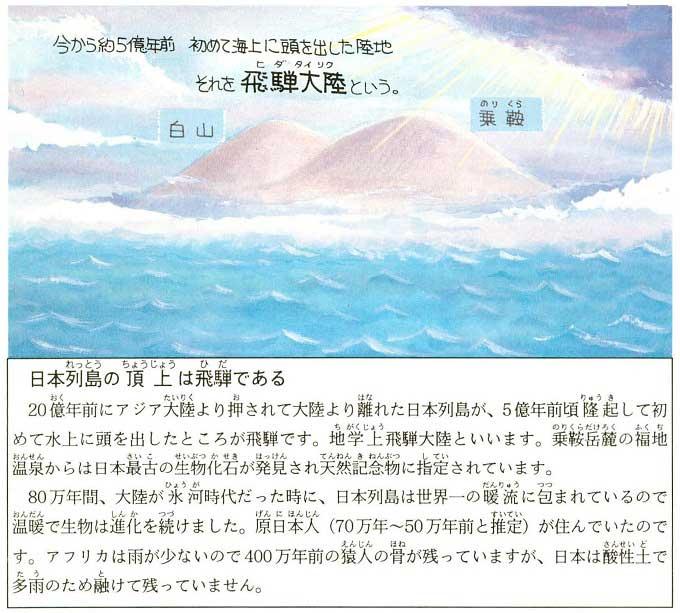 日本列島の頂上は飛騨である