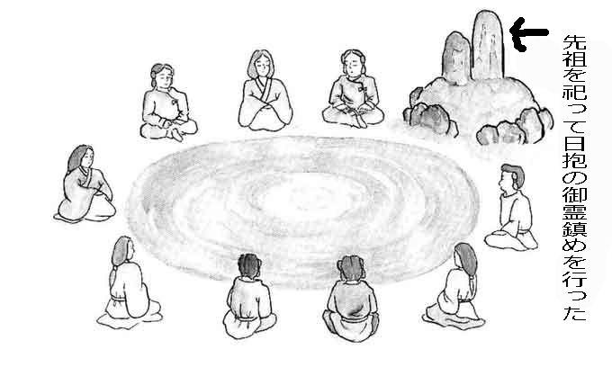 先祖を祀り日抱きの御霊鎮めを行う
